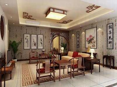 中式风格的客厅具有内蕴的风格