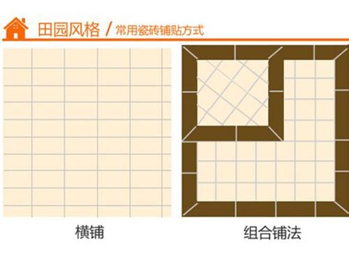 瓷砖打造个性家 四种风格瓷砖铺贴技巧