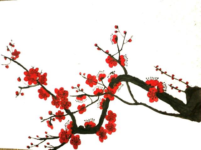 红梅矢量图