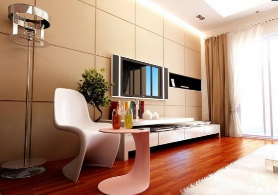 一、风格的确定   实木地板电视背景墙为弥补电视机背后的空白,承载着整个空间装饰效果的重任。规划颜色风格要与空间整体装修风格相配,颜色方面应与墙壁明显区分,可与地面颜色相近或相反。   二、造型的确定   实木地板电视背景墙造型选择丰富多样,设计时应根据造型简约为原则,可采用圆形、弧形或平直无棱角的线形为主要造型。注意造型规划的时候避免背景墙出现尖角,以及无规则的、凌乱的造型设计。   三、材料的选择   确定实木地板电视背景墙的材料选择,一般来说同一种材料根据规划要求都可以达到不同装修效果,但是就